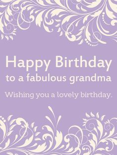 20 best birthday cards for grandma images on pinterest in 2018 to a fabulous grandma happy birthday card simplicity and elegance all wrapped up in m4hsunfo