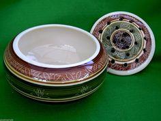 Vintage Garlic Bowl Retro Artisan Dragon Pottery Rhayader Wales Potpourri Lid | eBay