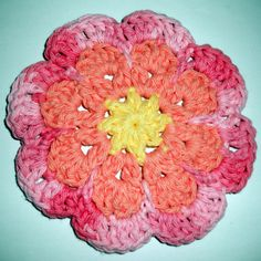 Large-Flat-Flower-Motif-Coaster-Free-Crochet-Pattern by Jessie-At-Home