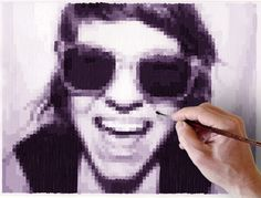 DIY Art - upload photos, the program pixelates it, then you can essentially paint by numbers or create a pixelated portrait