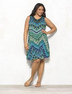 5fecacd9099 Plus Size Embellished Chevron Dress Dress Bar