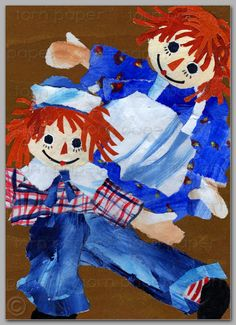 Hey, I found this really awesome Etsy listing at http://www.etsy.com/listing/155158321/raggedy-ann-andy-nostalgia-card-5x7