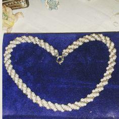 Torchon perle di fiume e conteria argento 925