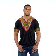 2016 africain mens vêtements dashiki style coton couture cire impression tops homme T shirt vê Modern African Clothing, African Clothing For Men, African Shirts, African Fashion Designers, African Men Fashion, Africa Fashion, Mens Fashion, African Attire, African Wear