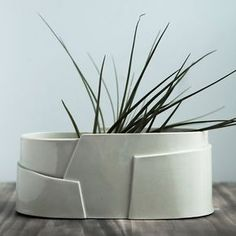 Fioriera ovale grande porcellana - insieme a più livelli