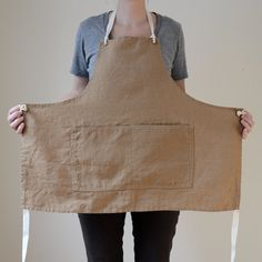 an apron  Apron No. 1 in Brown by smallbatchproduction on Etsy