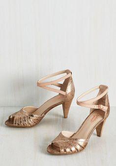 5d6f4a79478 1930s Style Shoes for Women. Blush ShoesRose Gold HeelsSeychelles ...