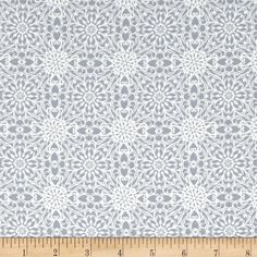 Heartsong Lace Steel from @fabricdotcom  Designed by Whimsies & Wishes for Studio E Fabrics. This fabric is perfect for quilting, apparel and home decor accents. Colors include grey and cream.