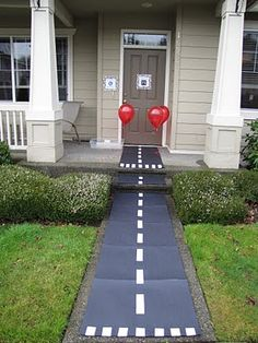 Airline / Airplane 3-year-old birthday party. Runway sidewalk!