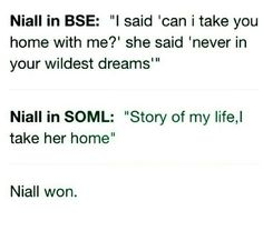 Niall won!