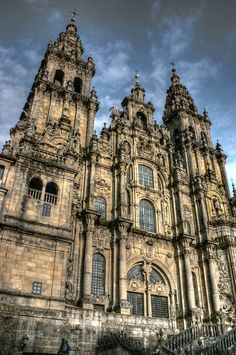 El Camino de Santiago trail. Finishing at the Santiago de Compostela (Spain). El final.