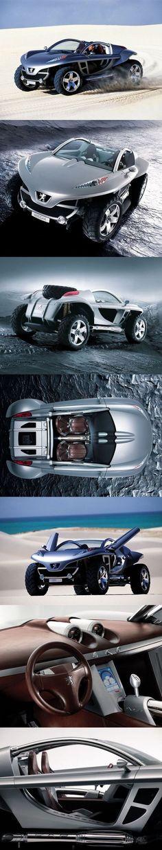 ? Peugeot Hoggar Concept car (2003) original from Peugeot 504, Psa Peugeot Citroen, Design Transport, Vw Beach, Futuristic Cars, Buggy, Sweet Cars, Transportation Design, Car Photos