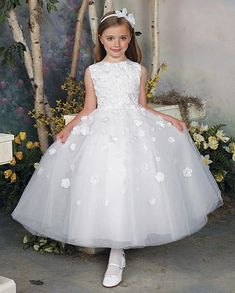 how precious is this flower girl? Joan Calabrese by Mon Cheri Flower Girls Dress 112309 at frenchnovelty.com
