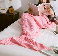 FADFAY Mermaid Tail Blanket 31''*71'' Pink Large Size FADFAY https://www.amazon.com/dp/B01ID7Y9IA/ref=cm_sw_r_pi_dp_5caMxbR4Y1G2A