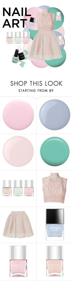 """#48"" by lulu1507 on Polyvore featuring beauty, Nails Inc., Butter London, Essie, Jin Soon, Martha Medeiros, Topshop, nailart, pastels and pastelnails"
