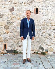 "1,488 Likes, 29 Comments - Andreas Weinås (@andreasweinas) on Instagram: ""Vacation wear 2.0, Jacket - @ringjacketintl, Trousers - @zarembabespoke, Shirt - @shirtonomy,…"""