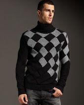 Энтерлак от Версаче-мужской свитер спицами