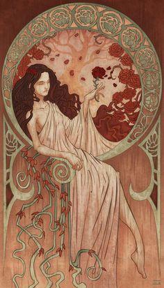 Art Nouveau Tattoo, Mucha Art Nouveau, Alphonse Mucha Art, Tattoo Art, Mucha Artist, Art Inspo, Kunst Inspo, Art And Illustration, Fantasy Kunst