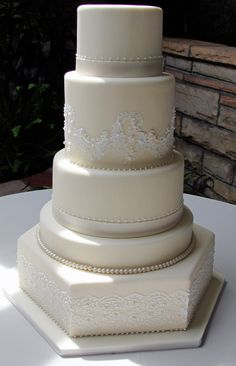 Chantilly Lace cake by Layers in Salt Lake City