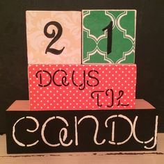 Candy Countdown Blocks for Halloween