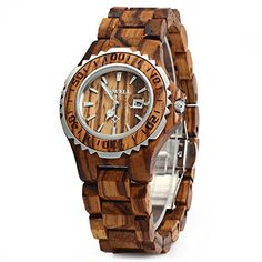 GearBest BEWELL Wooden Women Quartz Watch with Luminous Hands Metal Case 30M Water Resistance ZEBRAWOOD >>> For more information, visit image link.