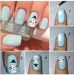 Easy Snowman Nail Art Designs Step By At Home