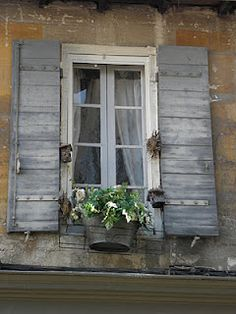 Make a set of  shutters like these for barn window with the old barn wood. On the lavender field side.