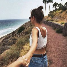 couple, life goals, love, follow me to, couple goals, grab her hand, travelling with bae