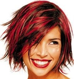 Funky hair color and cut
