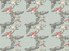 """Winter Birds"" by Tzadkiel birds, cream, dove, fly, gray, grey, pink, snow, white, winter"