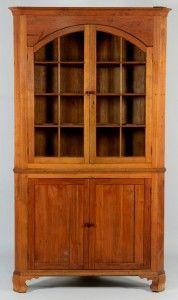 Lot 547: East TN Arched Door Corner Cupboard - Image 1