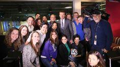 David Beckham visitó las oficinas de Univision