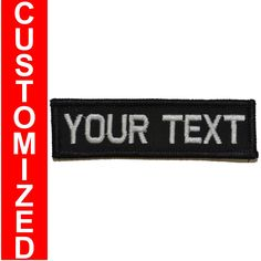 TACOMASTER    Custom Text Military 1x3 inch Patch. Your Text. | Tactical Gear Junkie