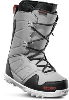 Brand New Mens 2020 ThirtyTwo Exit Snowboard Boots Grey Black Red - Ideas of Snowboard Freestyle Snowboard, Ride Snowboard, Thirty Two, Snowboard Bindings, Snowboarding Men, Winter Hiking, Boots Online, Winter Sports