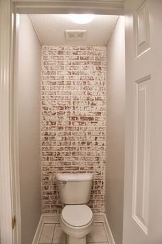 DIY Faux German Schmear Brick Wall of - Wallpaper Brick Bathroom, Brick Wall Bedroom, Brick Accent Walls, Fake Brick Walls, Master Bathroom, Faux Brick Wall Panels, Painted Brick Walls, Bathroom Modern, Modern Wall