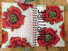 Art Journal page designed by Christy Riopel featuring Canuck Crafts Spectrum Noir Marker