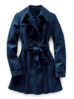 Victoria's Secret wool trenchcoat in Navy. Methinks this shall be my autumn coat this year.