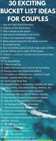 30 Bucket List Ideas for Couples (Dating Engaged or Married) to Experience Together - Discover 115 couples bucket list ideas for creating new memories and enhancing your relationship or marriage. Includes a variety of fun unique exciting sexy advent Travel Couple Quotes, Travel Quotes, Relationship Bucket List, Relationship Advice, Strong Relationship, Relationship Challenge, Relationship Meaning, Relationship Marketing, Relationship Therapy