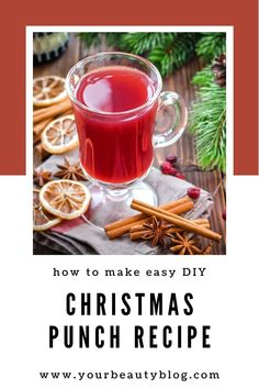 How to make the best Christmas punch. Includes directions to make it nonalcoholic for kids or make it boozy for adults with run, vodka, or wine.  It