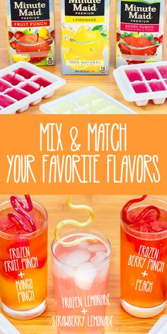 Host your own after school drink party with the whole family. Pour a couple of your favorite Minute Maid flavors into ice cube trays. Then mix and match them with other Minute Maid juice drinks for a new take on tasty. Click on the image for more after school ideas.