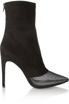Alexander Wang Cameron suede and mesh ankle boots.... Of course you have to have them in ALL BLACK