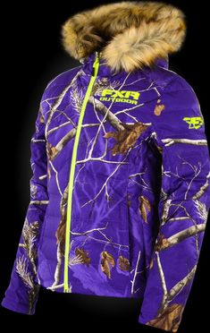 FXR Realtree purple camo Fuze Down Jacket Cute N Country, Country Girls, Country Life, Country Style, Camo Outfits, Girl Outfits, Hunting Jackets, Hunting Gear, Camo Jacket