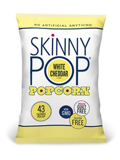 New In! The totally addicting SkinnyPop popcorn in various flavors OMG we just ate an entire bag how'd that happen!!!! http://skinnypop.com/