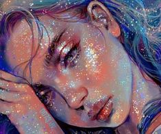 Digital Art Girl, Digital Portrait, Portrait Art, Pretty Art, Cute Art, Dibujos Tumblr A Color, Glitter Art, Cartoon Art Styles, Art Drawings Sketches