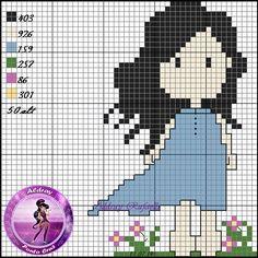 *Девочки Gorjuss, Casulo Cross Stitch Boards, Mini Cross Stitch, Modern Cross Stitch Patterns, Cross Stitch Designs, Cross Stitching, Cross Stitch Embroidery, Stitch Character, Stitch Doll, Crochet Flower Tutorial