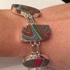 %925 Silver Bracelet % Jasper Gem Stones