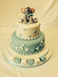 Two tier Christening cake #christening #christeningcake #blueribbons