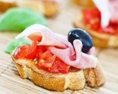 Tapas jambon ibérique, tomate et olive