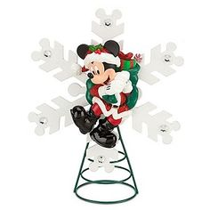 Your WDW Store - Disney Christmas Tree Topper - Santa Mickey Mouse