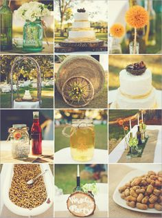 rustic, detailed, and cheap wedding ideas. beautiful ideas